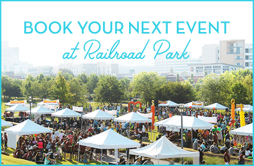 Book Events at Railroad Park